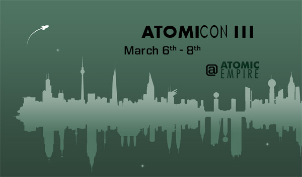 March 6-8 (Friday to Sunday) -- Durham's Atomic Empire hosts AtomicCon III: three days of RPG gaming.